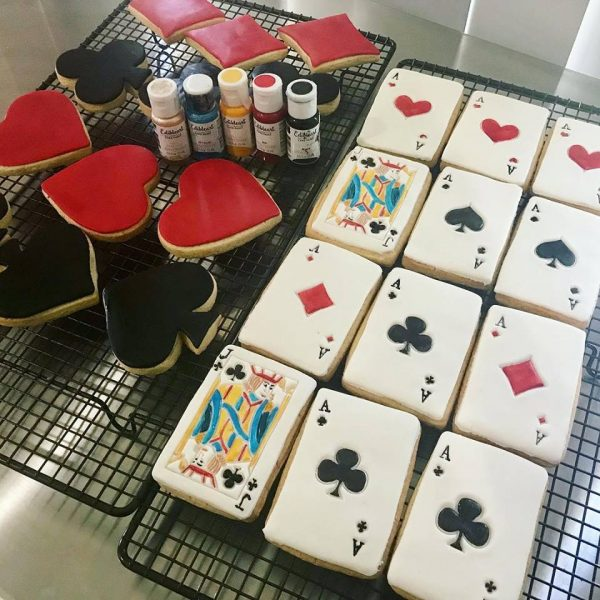 playing card cookies casino