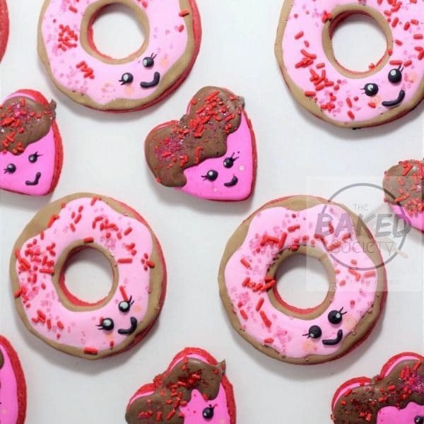 heart donut cookie